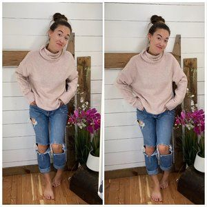 Turtle Neck Sweater NWT Oversized and Fluffy Pink